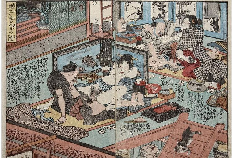 Hokusai, el arte erótico Shunga y la chica sinnombre